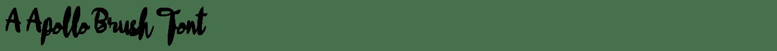 A Apollo Brush Font