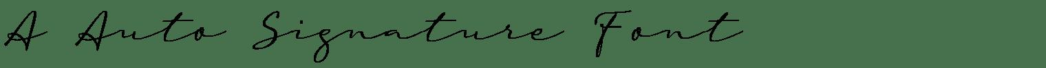 A Auto Signature Font