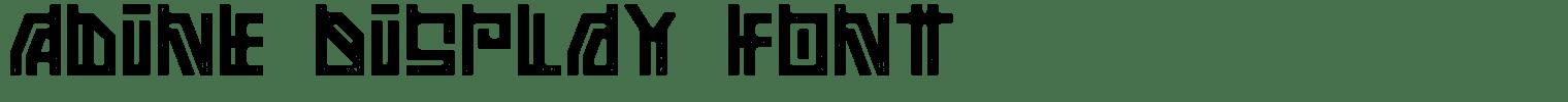Adine Display Font
