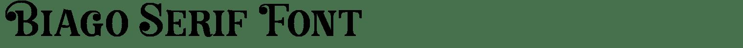 Biago Serif Font