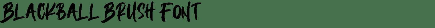 Blackball Brush Font