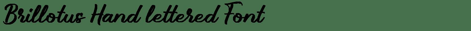 Brillotus Hand lettered Font