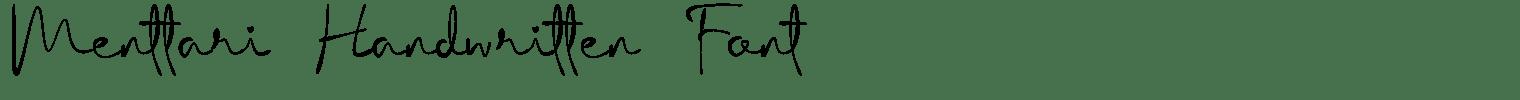 Menttari Handwritten Font