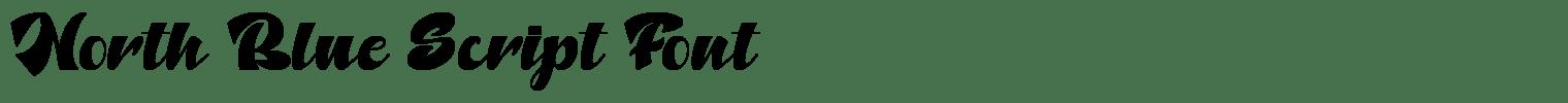 North Blue Script Font