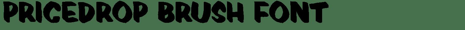 Pricedrop Brush Font