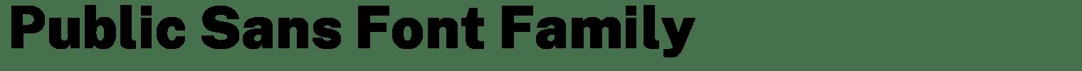 Public Sans Font Family