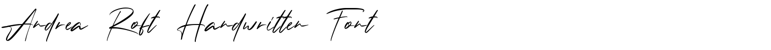 Andrea Roft Handwritten Font