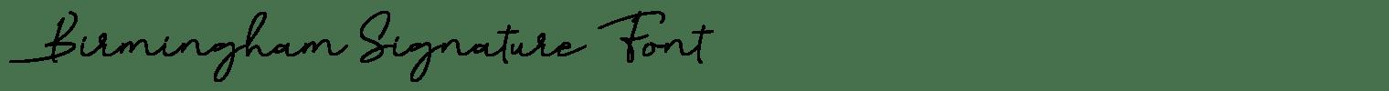 Birmingham Signature Font