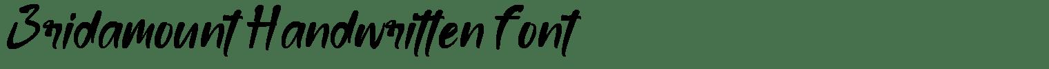 Bridamount Handwritten Font