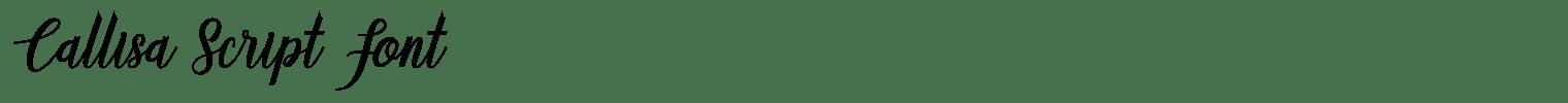 Callisa Script Font