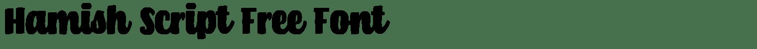 Hamish Script Free Font