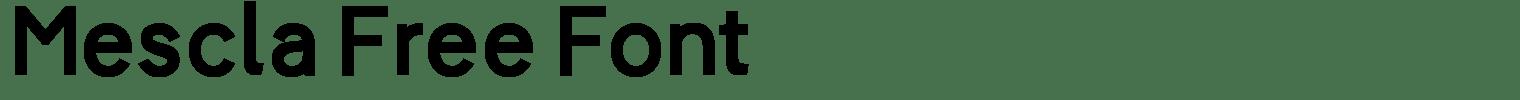 Mescla Free Font