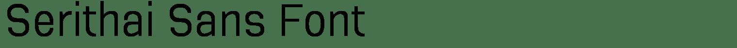 Serithai Sans Font