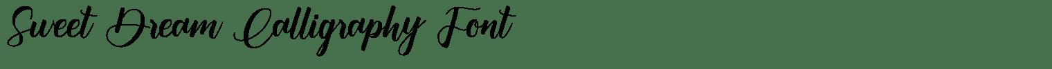 Sweet Dream Calligraphy Font