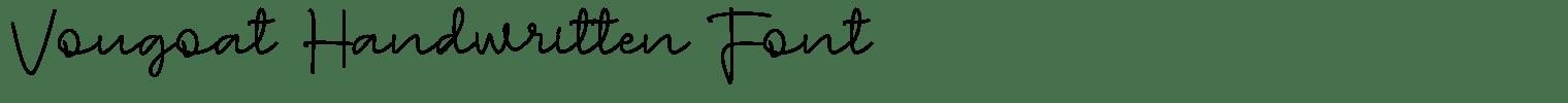 Vougoat Handwritten Font