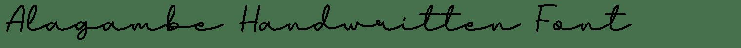 Alagambe Handwritten Font