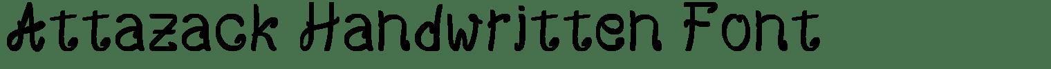 Attazack Handwritten Font