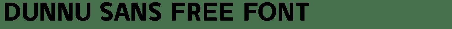 Dunnu Sans Free Font