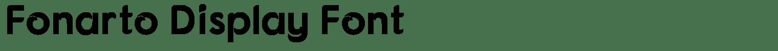 Fonarto Display Font
