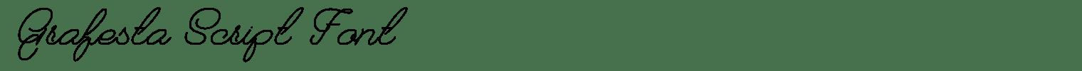 Grafesta Script Font