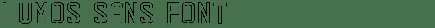 Lumos Sans Font