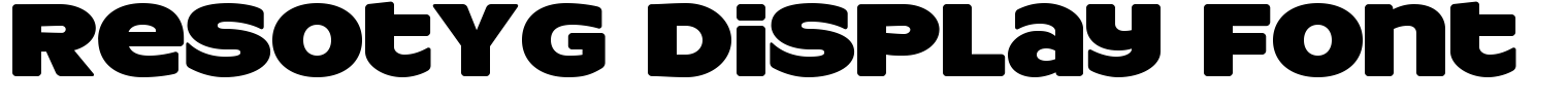 ResotYg Display Font