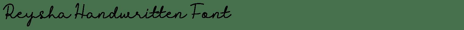 Reysha Handwritten Font