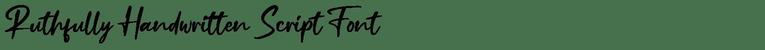 Ruthfully Handwritten Script Font
