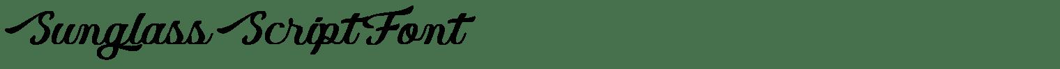 Sunglass Script Font