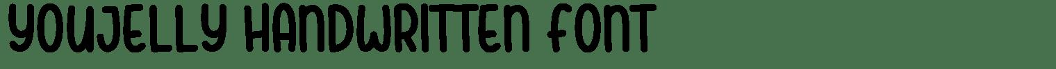 Youjelly Handwritten Font