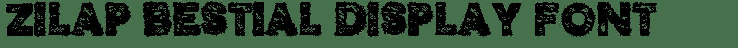 Zilap Bestial Display Font
