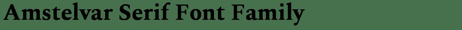 Amstelvar Serif Font Family