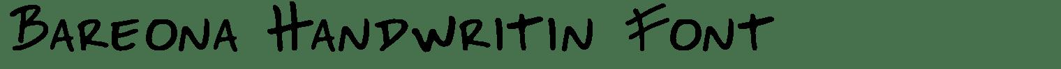Bareona Handwritin Font