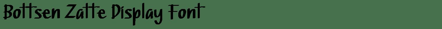 Bottsen Zatte Display Font