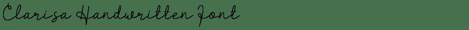 Clarisa Handwritten Font