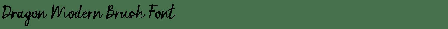 Dragon Modern Brush Font