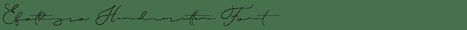 Efothyro Handwritten Font