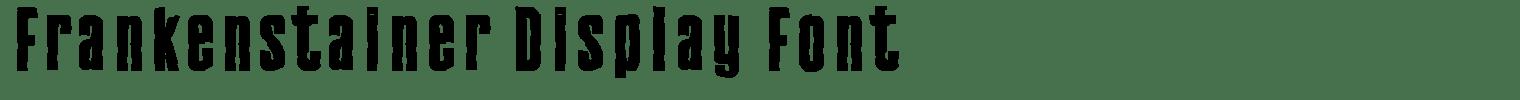 Frankenstainer Display Font