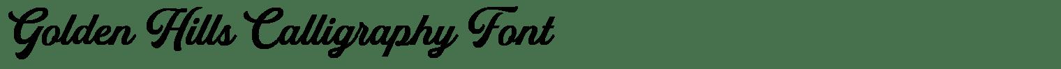 Golden Hills Calligraphy Font