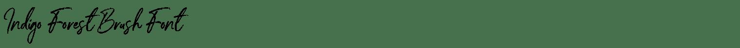 Indigo Forest Brush Font