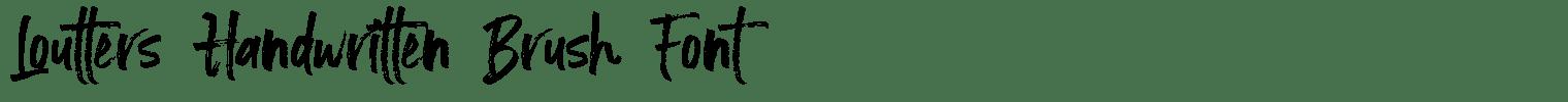 Loutters Handwritten Brush Font
