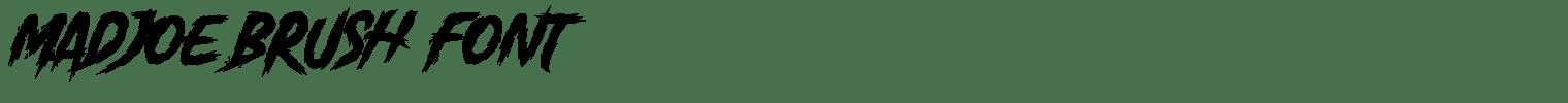 Madjoe Brush Font