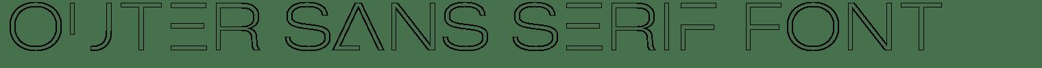Outer Sans Serif Font