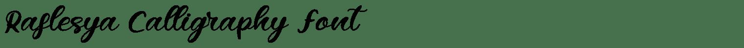 Raflesya Calligraphy Font