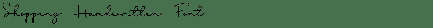 Shopping Handwritten Font