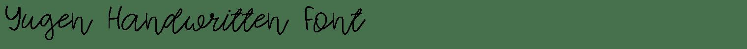 Yugen Handwritten Font