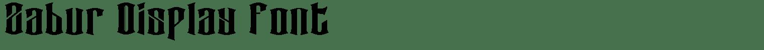 Zabur Display Font