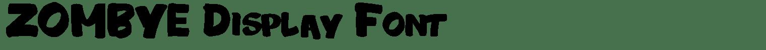 ZOMBYE Display Font