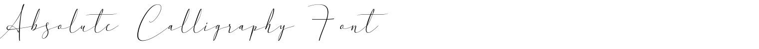 Absolute Calligraphy Font