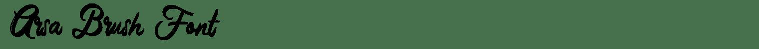 Arsa Brush Font